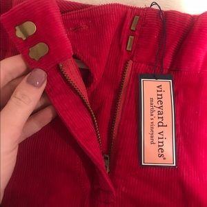 Vineyard Vines Pink Corduroy Skirt - Brand New